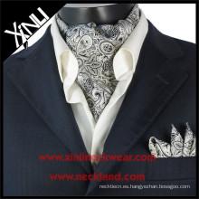 2015 Mens Nueva Moda de seda impresa Ascot Tie Cravats