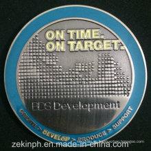 Metal personalizado estampado astilla antigua moneda