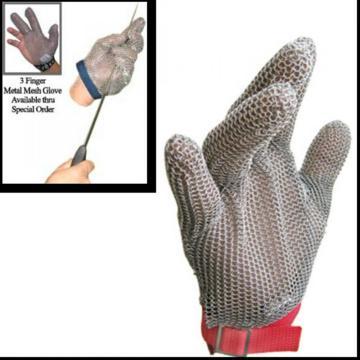 Защитные сетчатые перчатки из нержавеющей стали