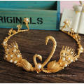 24k Gold Crown And Tiara Chinois traditionnel Couronne China Women Weeding Tiara