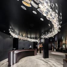 Nueva oficina de diseño moderno proyecto de luz colgante ovalada
