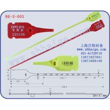 Selo indicativo de plástico BG-S-003