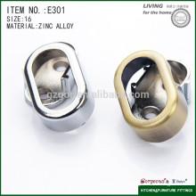 wholesale zinc alloy wardrobe tube furniture rail support