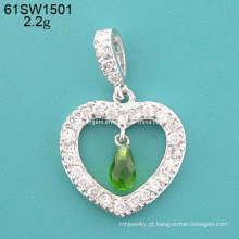 Pingente - joias de prata de CZ