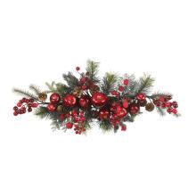 Décoration de Noël artificielle de 30 pouces avec superbe pomme et cerise (MY205.445.00)