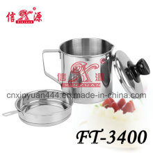 Stainless Steel Oil Pot with Filter Mesh (FT-3400)