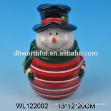 2016 новый стиль керамический рождественский снеговик кувшин jar