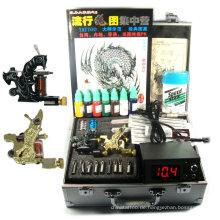 professionelle Tattoo Kits 4 Waffen rotary Tattoo Maschine Kits Tattoo Piercing Kits