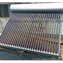 Non Pressure Evacuated Tube Solar Water Heater