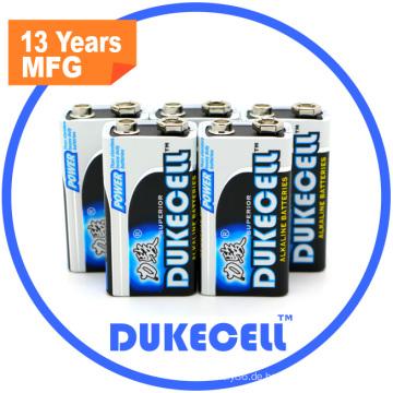 Neue 9V Alkaline Batterie für Rauchmelder