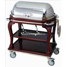 Hotel Luxury Roast Beef Service Trolley (DE33)