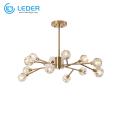 LEDER Glass Beautiful Ceiling Chandeliers