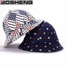 Sombrero de canguro de sarga de algodón con patrón de póquer