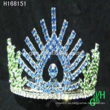 Nuevos diseños de rhinestone real accesorios feliz año nuevo tiara coronas