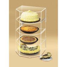 Loja de exposição acrílica para bolos, prateleira de exibição acrílica de varejo