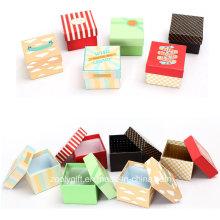Дешевая печать мини-площади Упаковка подарочной бумажной коробочки / Часы упаковочные коробки