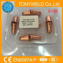 Bocal e eletrodo de acessórios de tocha de plasma Trafimet S125