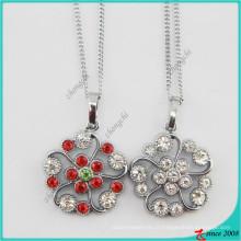 Mode cristal fleur pendentif charme collier de mode (PN)