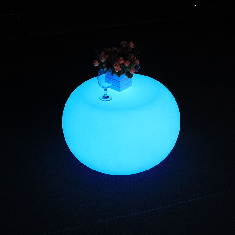 Plastic illumination Glowing Coffee Led Tables