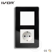 Interruptor y enchufe de pared del marco de cristal de Ivor