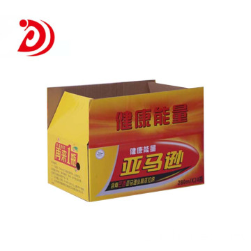 Beverage colored cardboard boxes