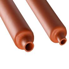 Tubes rouges de rétrécissement de la chaleur de caoutchouc de silicone de douille de protection de câble optique de fibre