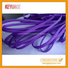 Mangas de cabo expansíveis trançadas com PET coloridas