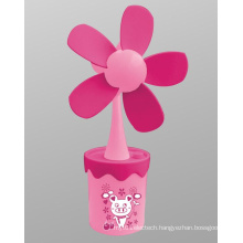 Sunflower USB Mini Fan Operated by USB or 3 AA Battery