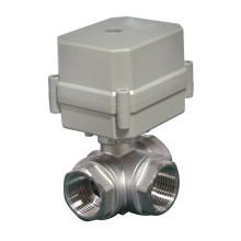 Válvula de bola de actuador eléctrico tipo L de 3 vías