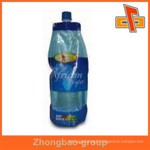 manufacturing plastic packaging ziplock reusable drink pouch with spout for beverage