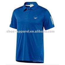 logo d'impression de mode T-shirt de tennis de Polo