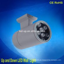 Mini luz de pared llevada al aire libre para arriba y abajo llevó la luz IP65 impermeabilizan la lámpara de pared al aire libre llevada