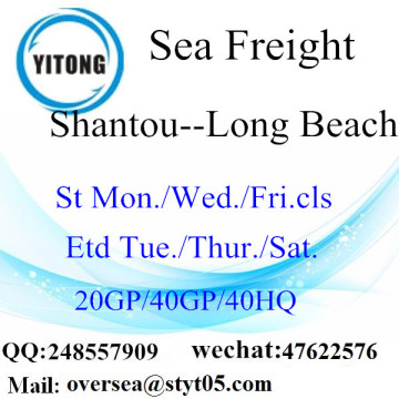 Shantou Port Seefracht Versand nach Long Beach