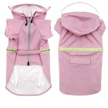 New medium-sized dog raincoat with hood and waterproof zipper