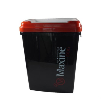 Plastic Dog Food Container with Measuring Spoon