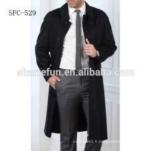 Manteau de mode de luxe 2017 pardessus homme chaud en laine