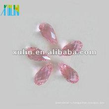 Старинные слеза Лакрима граненые Хрустальные бусины АВ розовый 8мм *13мм
