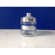 300ml Airtight Clear Glass Sugar Jar Biscuit Jar Coffee Jar with Lid