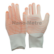 NMSAFETY 13g colorful u3 polyester liner coated pu printed garden hand glove