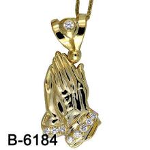 Nouveau design élégant en mousseline de soie plaqué or en argent plaqué or (B-6184)