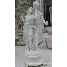 Esculpido pedra escultura estátua decoração de jardim com mármore granito arenito (sy-x1313)