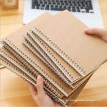 Wholesale custom hardcover bulk notebook A6 A5 A4 A3 size Kraft paper spiral Personalized notebook