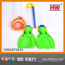 Sistema de buceo con escafandra plástica caliente vendido para los cabritos Goggle, tubo, zapatos