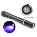 1W Money Detecter Mejor luz ultravioleta de la luz de la linterna ligera 395NM-400NM para la inspección