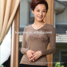 2015 Autumn women's worsted 100% cashmere sweater