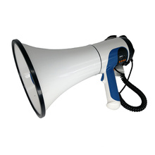 Megáfono de policía con conversación y sirena