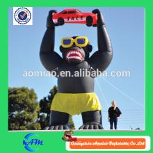 Gorila inflável gigante de boa qualidade pano oxford venda quente gorila inflável para publicidade