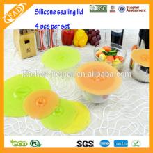 Hot Sell FDA & LFGB tigela tampa à prova de poeira de silicone