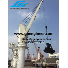 Cuerda de alambre Luffing Marine Deck Crane