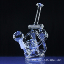 Double Chambered Dual Recycler Hookah Glass Smoking Water Pipes (ES-GB-312)